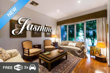Jasmine, tranquil waterside escape