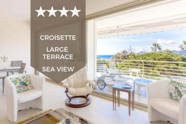 KIKILOUE ☀ Vue mer panoramique ☀ 3p avec grande terrasse sur la Croisette