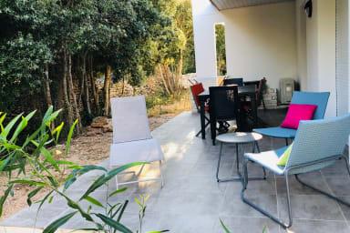 Villa T3 A Leccia, maquis, piscine