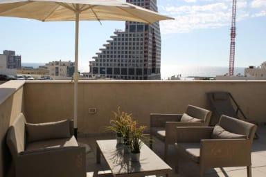 Ben Yehuda 10 Sunny duplex-with beautiful sea VIEW