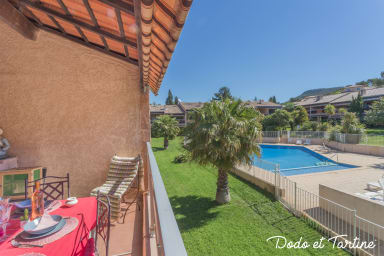 Splendid flat with terrace and swimming pool - Dodo et Tartine