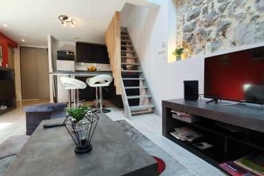 Joli duplex hyper centre -climatisé, pour 4❤️dernier étage-très calme #C3
