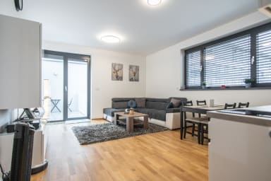 Appartement d'une chambre confortable avec balcon et superbe vue
