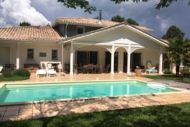 Maison avec piscine sur le golf de Lanton - Bassin d'Arcachon