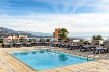 Beau studio à la frontière Monaco avec piscine dans la résidence