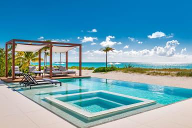 Vision Beach // 240 ft of beachfront frontage, beach deck, wine cellar, +