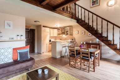 Duplex apartment ideal for a large family.