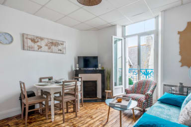 Charming 1br with balcony, 10 min from the beach in Quiberon – Welkeys