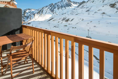 Nice ski-in studio with balcony and parking in La Mongie - Welkeys