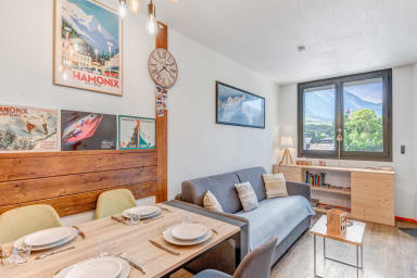 Cosy 1br South-exposed in Chamonix center, nearby cable cars - Welkeys