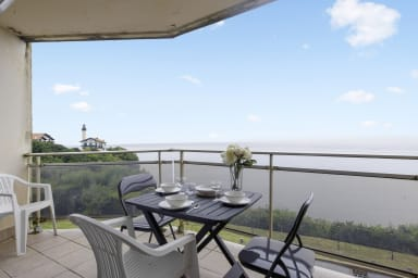 Studio avec balcon et vue exceptionnelle sur l'océan à Biarritz - Welkeys