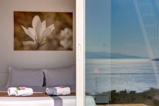 Bedroom 3 with its stunning sea view