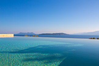 Refreshing moments in the pool with extraordinary sea and islands view