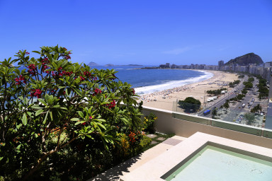 Luxury penthouse rental - rio de janeiro - Bedroom with a view