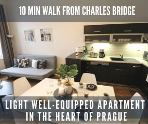 Kampa2 - spacious 3BR 10min to Charles Bridge