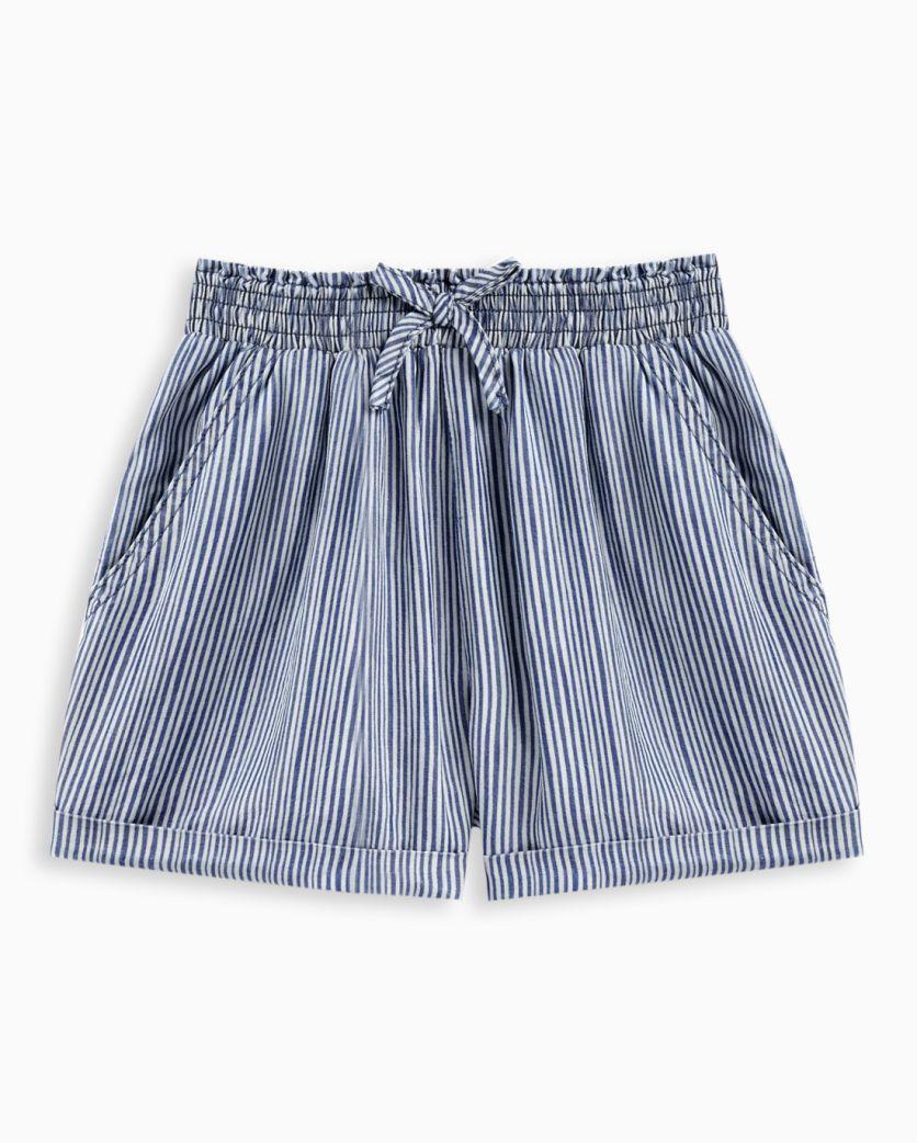 Girl Print Stripe Short