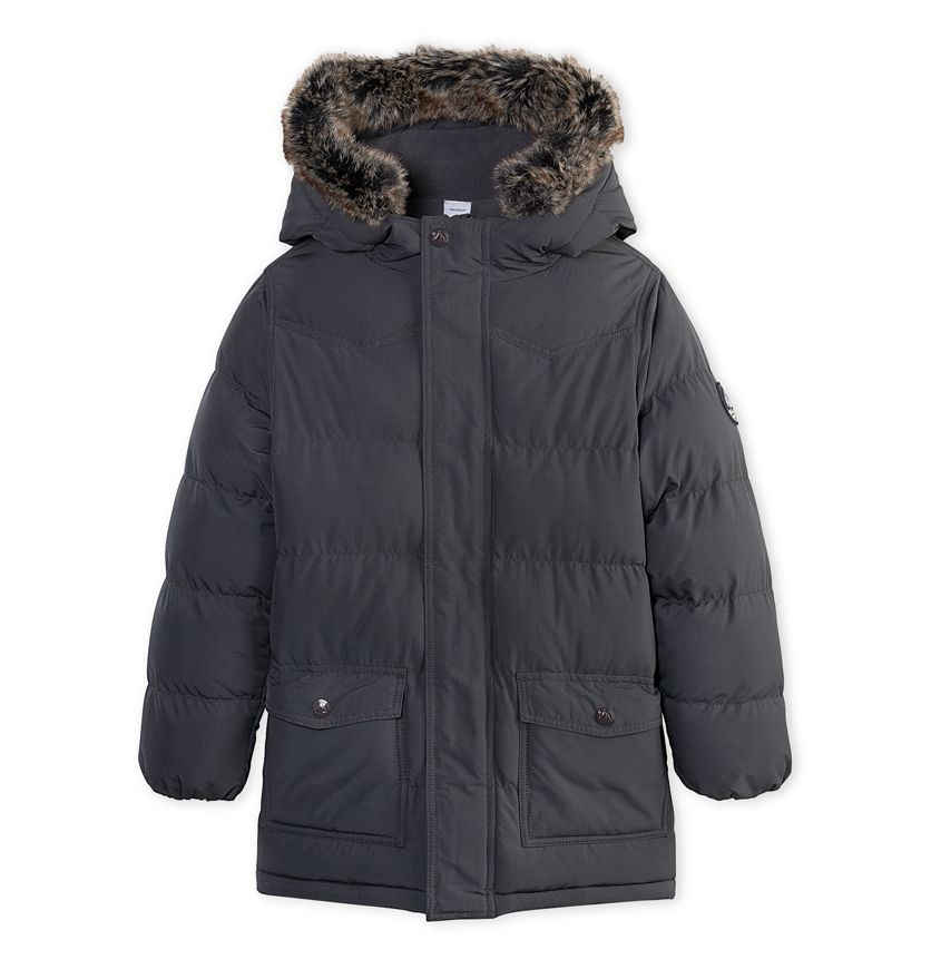 Boys' quilted lined anorak