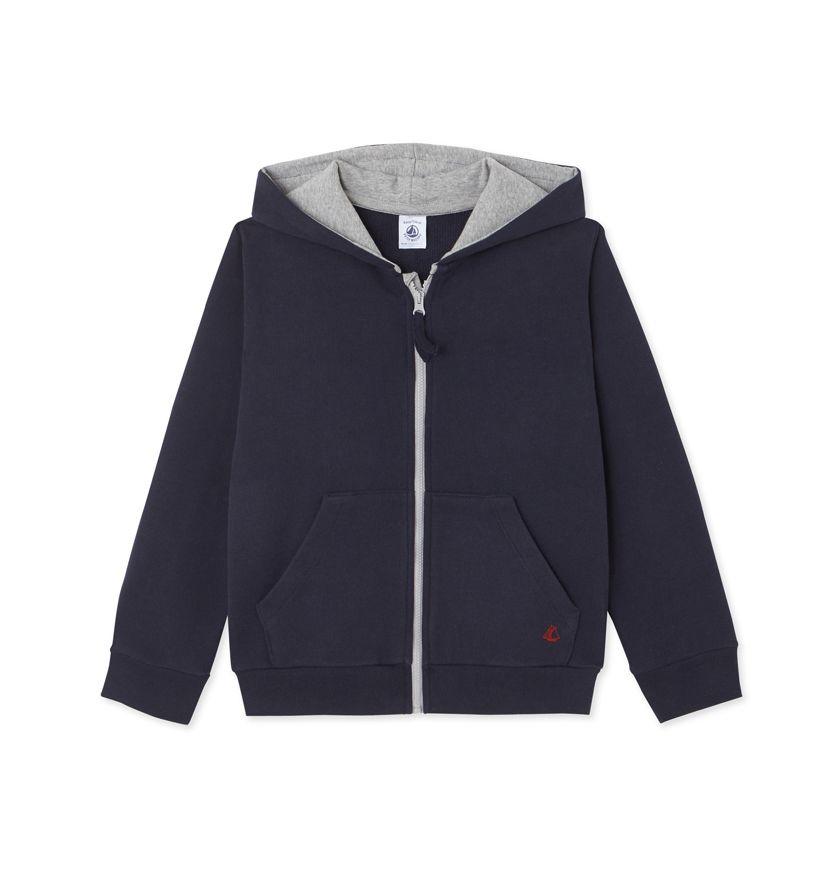 Boys' zippered sweatshirt