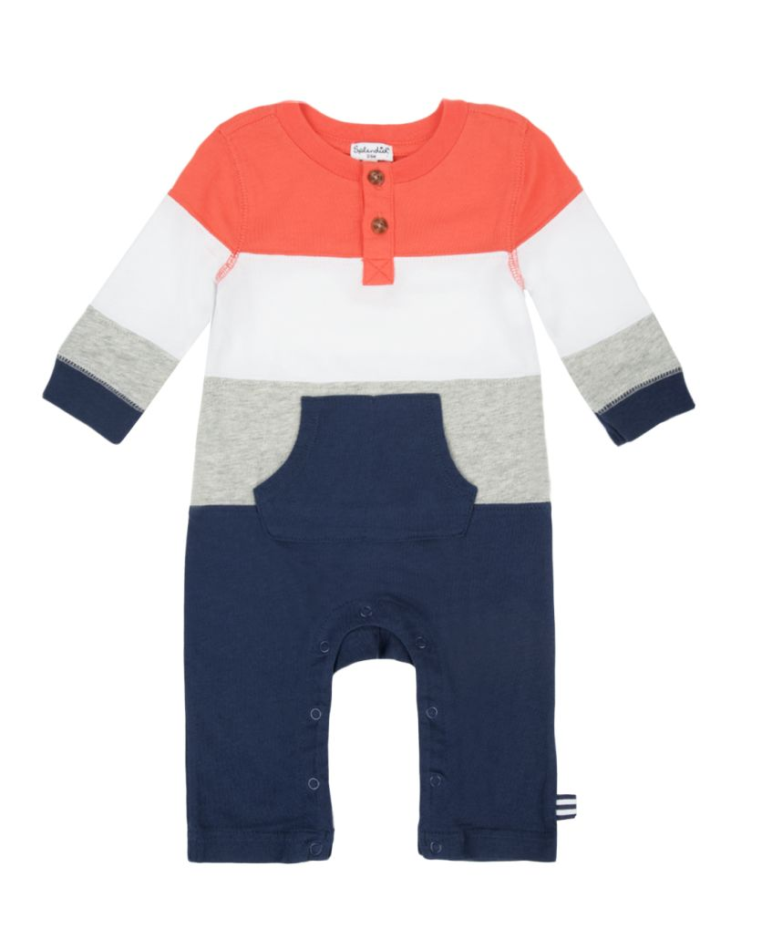 Baby Boy Stripe Knit Coverall