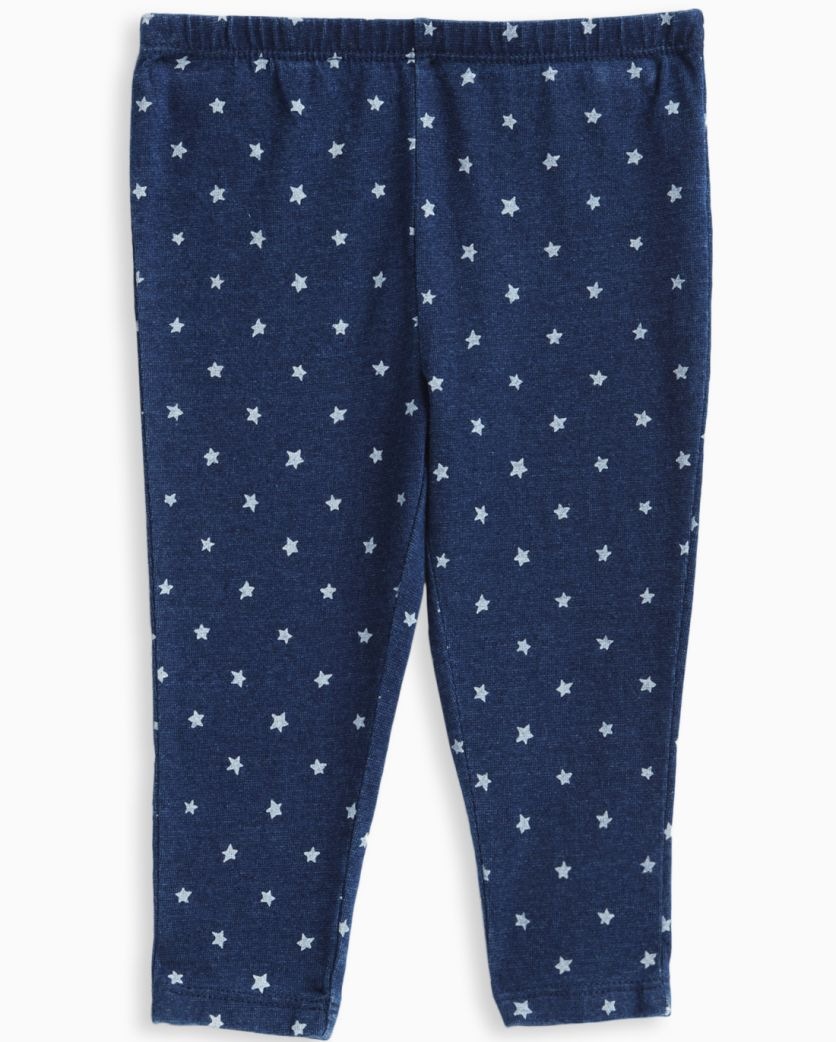 Baby Girl Indigo Printed Legging