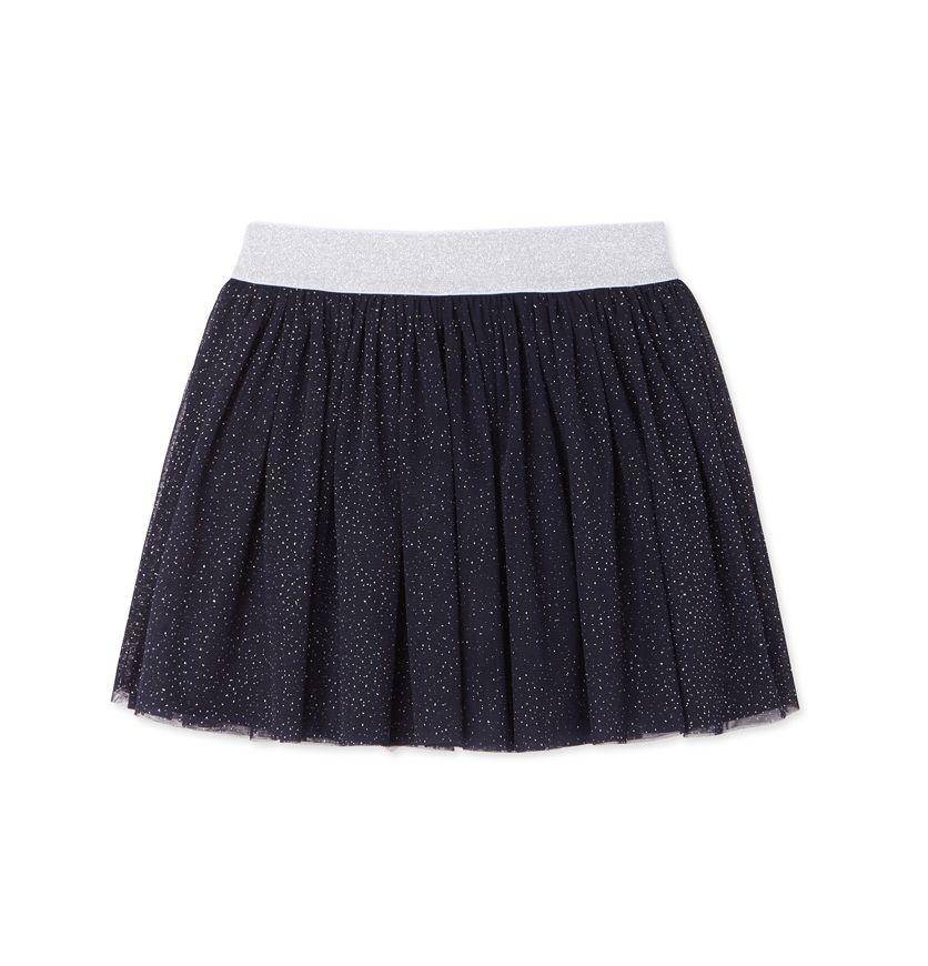 Girl's spangled tulle skirt