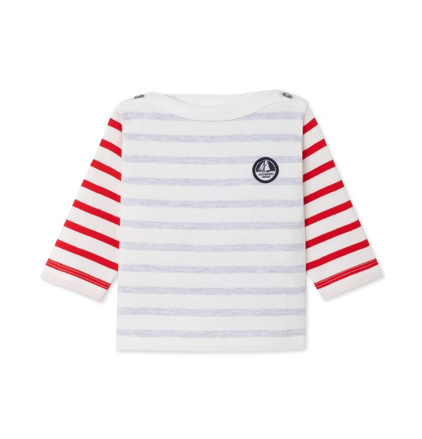 Baby boys' heavy jersey sailor top