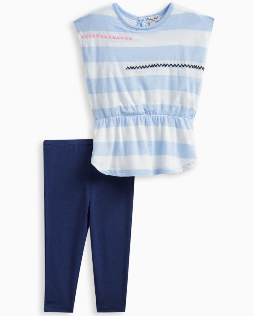 Baby Girl Embroidered Top and Legging Set