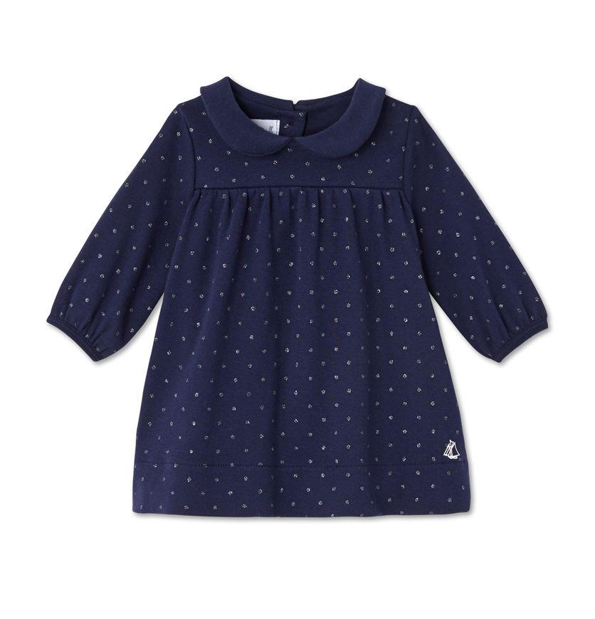 Baby girl's glitter polka dot dress