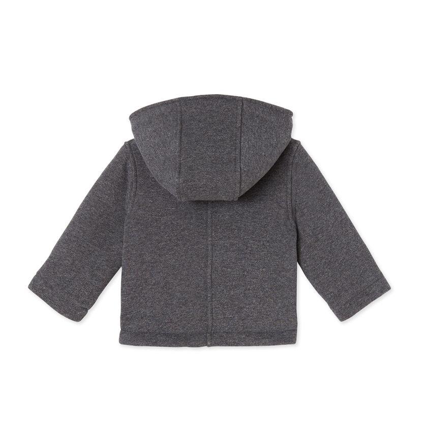 Baby boy's duffle coat in warm cotton fleece