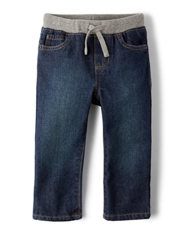 Toddler Boys Pull-On Straight Jeans
