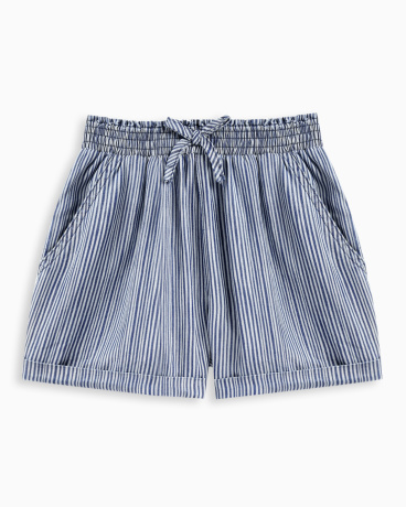 Girl Print Stripe Short