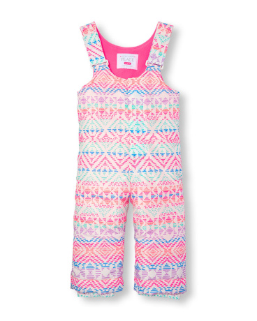 Toddler Girls Printed Snow Overalls