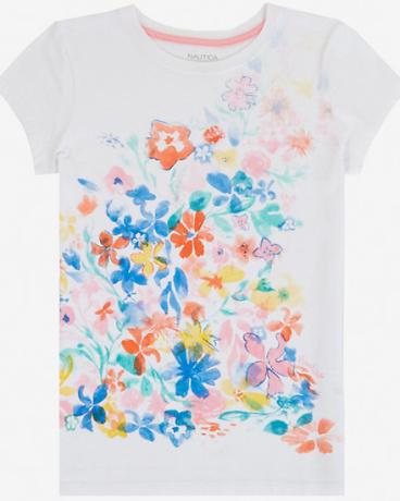 Little Girls' Flower Graphic Tee (2T-7)