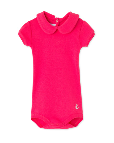 Baby girls' bodysuit with collar