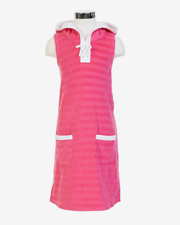 Little Girls' Striped Terry Swim Cover-Up (2T-7)