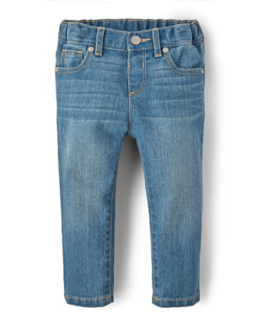 Baby And Toddler Girls Basic Skinny Jeans - True Indigo Wash