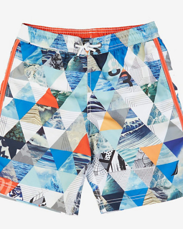 Little Boys' Ocean Photo Swim Trunk (2T-7)