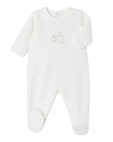 Unisex baby's terry velour sleeper