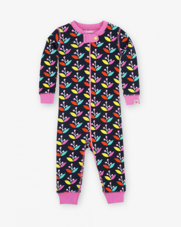 Nordic Petals Baby Coverall