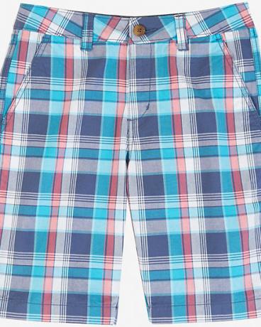 Boys' Blue Plaid Short (8-16)