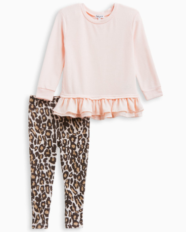Little Girl Animal Print Legging Set