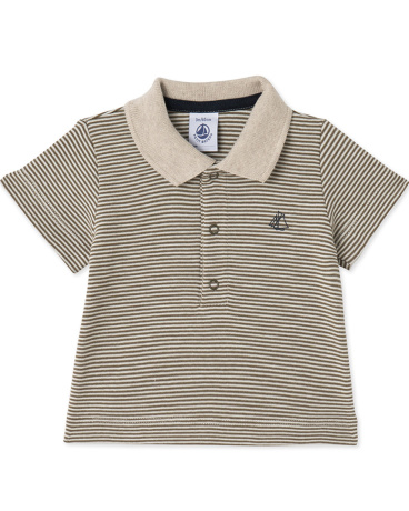 Baby boys' milleraies-striped polo shirt