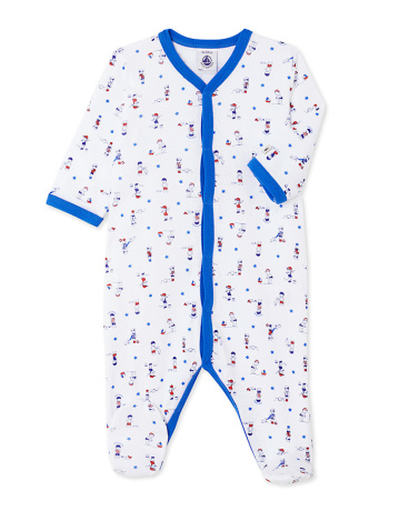 Baby boys' print sleepsuit