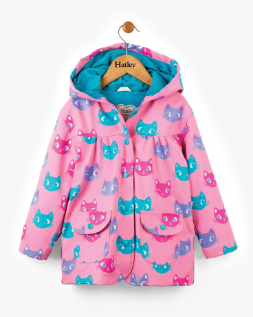 Silly Kitties Girls Raincoat