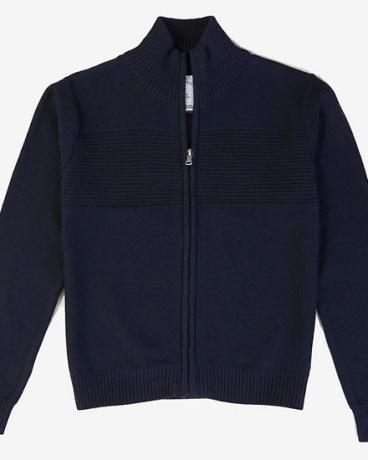 Boys' Ribbed Zip Sweater