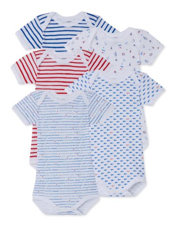 Pack of 5 baby boy bodysuits
