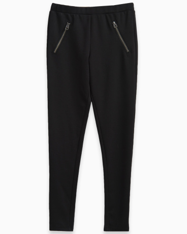 Girl Ponte Legging with Zippers
