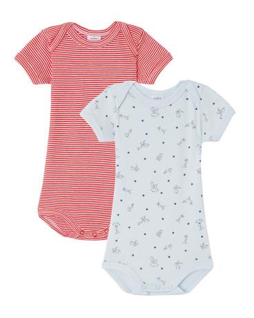 Pack of 2 baby boy bodysuits