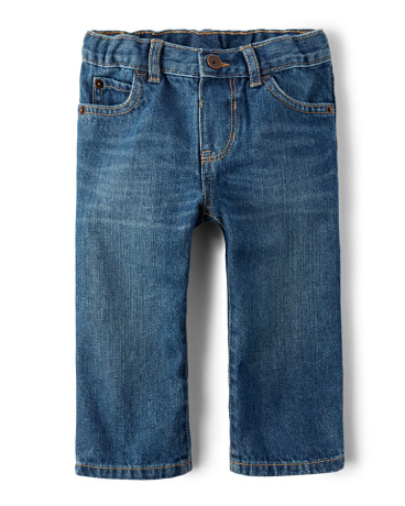 Baby And Toddler Boys Basic Straight Jeans - Carbon Wash