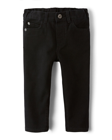 Baby And Toddler Boys Basic Skinny Jeans - Black Denim Wash